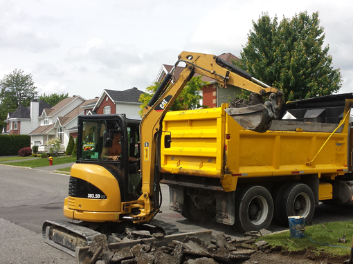 entrepreneur en excavation a drummondville - Pavage VL